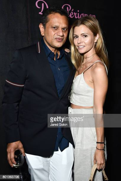 Naeem Khan and Elizabeth Sulcer attend The Dom Perignon Vintage Trinity Launch Party at 17 Irving Place on June 22 2017 in New York City