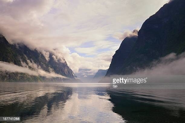 Naeroyfjord morning light