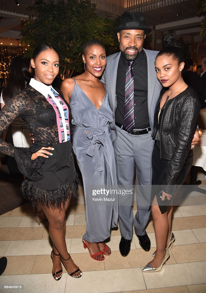 Nafessa Williams, Christine Adams, Cress Williams and China Anne McClain attend The CW Network's 2017 party at Avra Madison Estiatorio on May 18, 2017 in New York City.