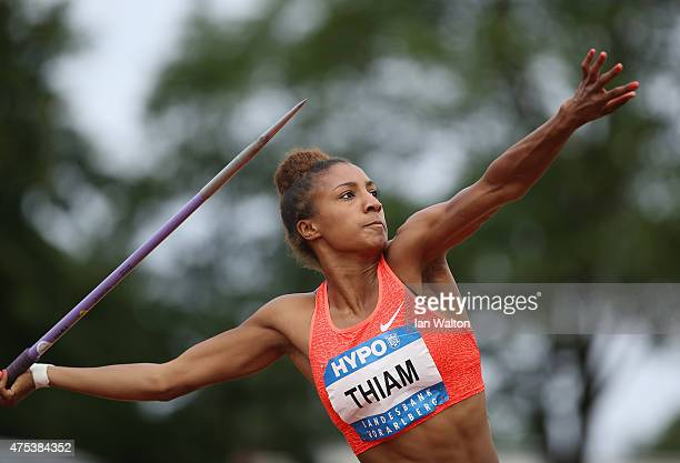 Nafissatou Thiam of Belgium competes in the Javelin during the women's heptathlon during the Hypomeeting Gotzis 2015 at the Mosle Stadiom on May 31...