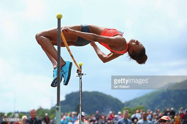 Nafissatou Thiam of Belgium competes in the Women's High jump in the women's heptathlon during the Hypomeeting Gotzis 2015 at the Mosle Stadiom on...