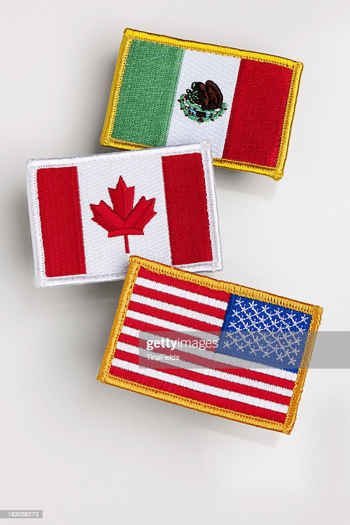 Nafta countries flag patch. : Stock Photo