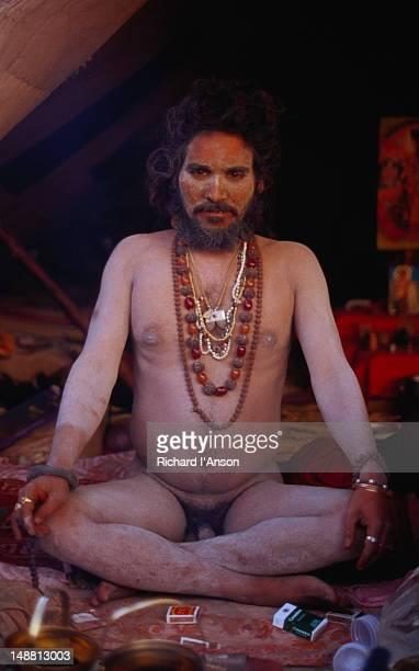 Naga (naked) sadhu.
