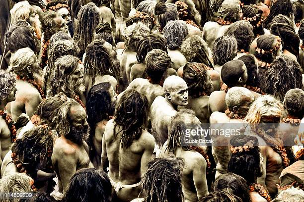 Naga sadhus at Kumbh Fair