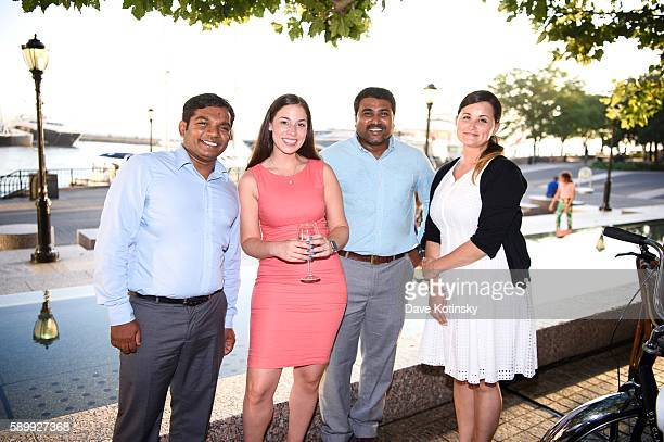 Nagaraj Denirae Morales Praneeth and Rina at the ITI Data Corporate Summer Party held at PJ Clarke's NYC on July 14 2016 in New York City