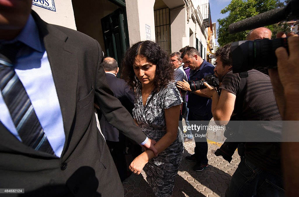 Naghmeh King, mother of five year old Ashya King, leaves after holding a press conference at their lawyer's office on September 3, 2014 in Seville, Spain. Brett and Naghmeh King were released from a Madrid prison late on September 2nd, after British authorities dropped an extradition request. Ashya King, who has a brain tumour, had been taken by his parents from a UK hospital against medical advice.