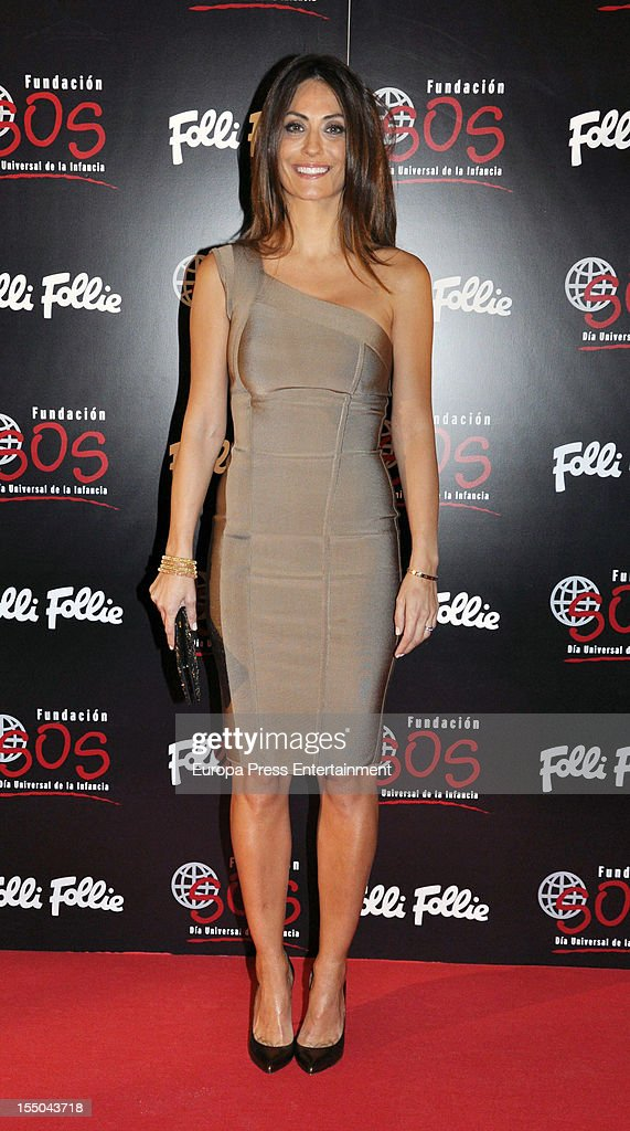 Nagore Aramburu attends the 'Folli Follie' campaign launch on October 30, 2012 in Madrid, Spain.