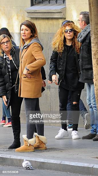Nagore Robles and Sofia Cristo are is seen on January 23 2017 in Madrid Spain