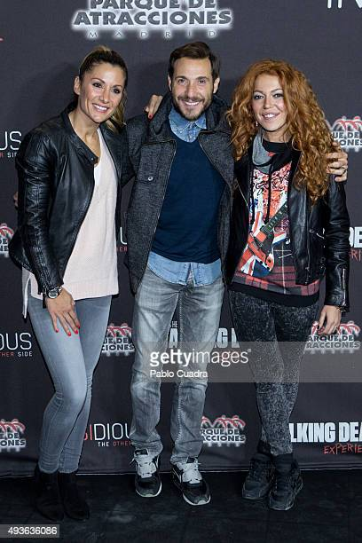 Nagore Robles Antonio David Flores and Sofia Cristo attend Halloween party at Amusement Park on October 21 2015 in Madrid Spain