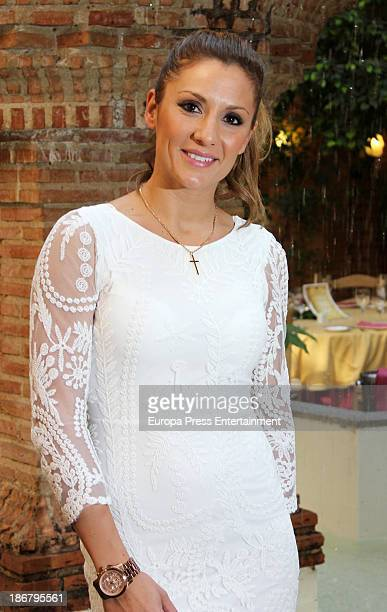 Nagore Robles is the new event management of gay wedding at La Pesquera restaurant on October 31 2013 in Madrid Spain