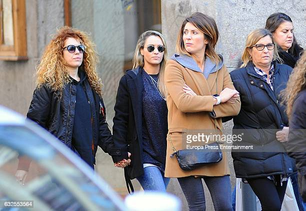 Nagore Robles Sofia Cristo and Bruna Manzoni are seen on January 23 2017 in Madrid Spain