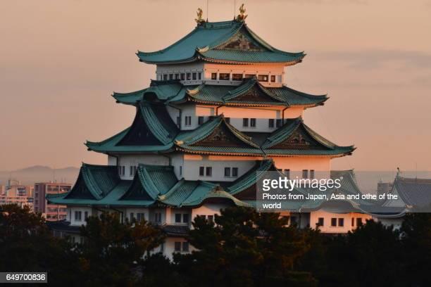 Nagoya Castle at Sunrise, Nagoya, Japan