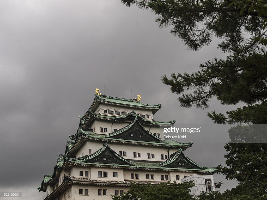 Nagoya castle on a cloudy morning