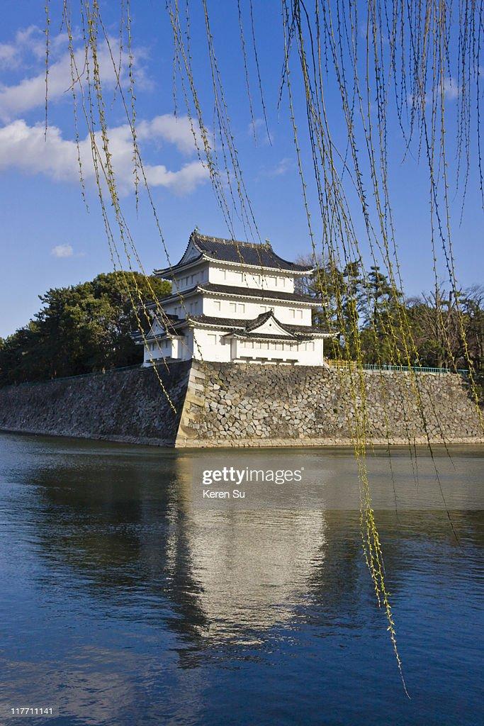 Nagoya Castle with moat : Stock Photo