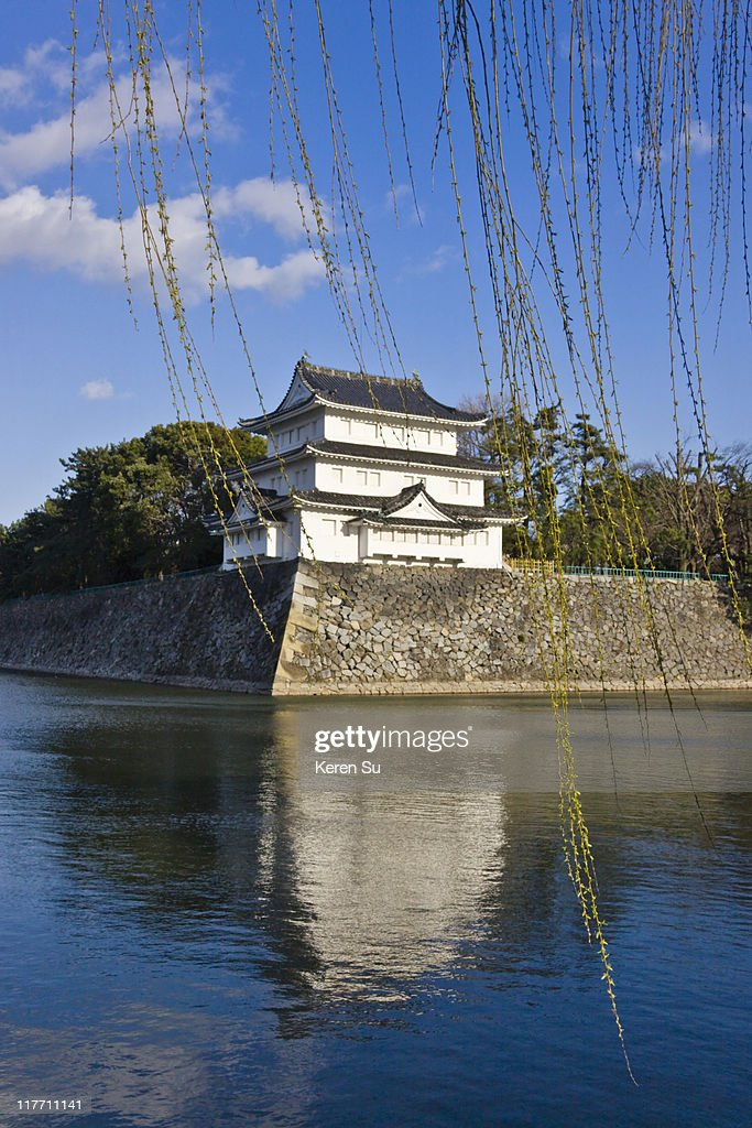 Nagoya Castle with moat