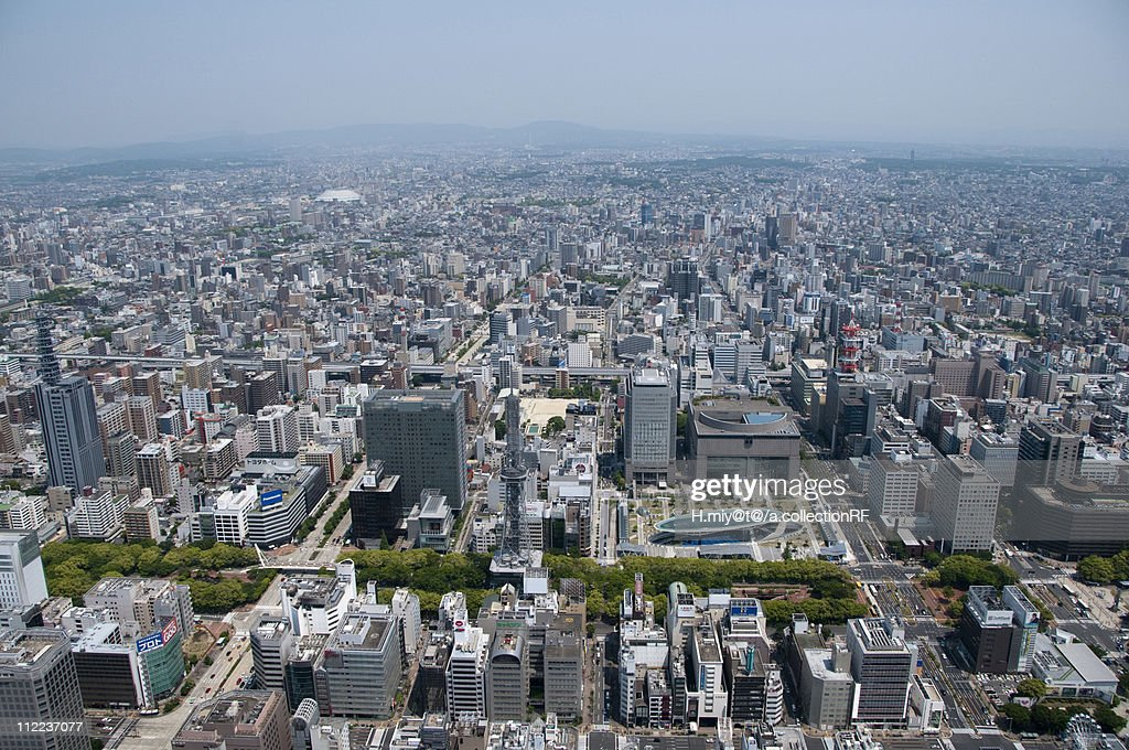 Nagoya Television Tower and Oasis 21, Aerial view