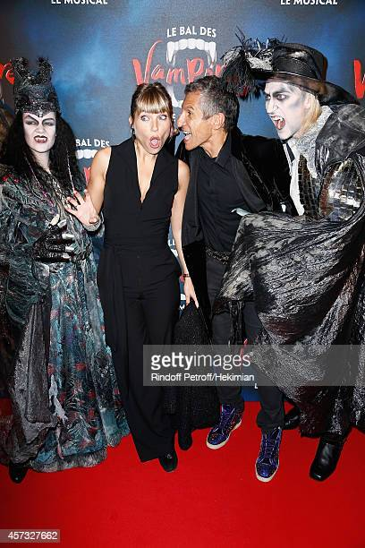Nagui and Melanie Page attend 'Le Bal Des Vampires' Premiere at Theatre Mogador on October 16 2014 in Paris France