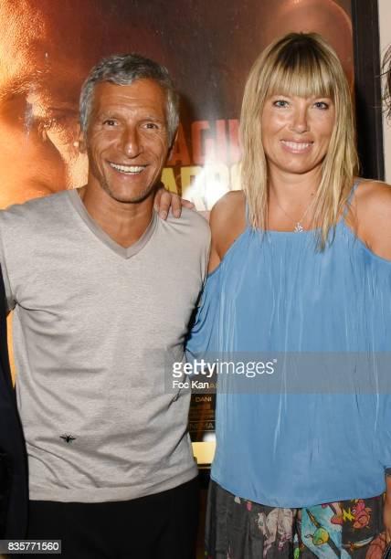 Nagui and Melanie Page attend the 'Carbone' SaintTropez Premiere Outside Arrivals At Cinema La Renaissance Place des LIces on August 19 2017 in...