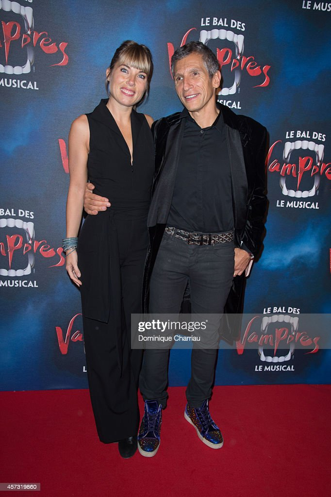 <a gi-track='captionPersonalityLinkClicked' href=/galleries/search?phrase=Nagui&family=editorial&specificpeople=765035 ng-click='$event.stopPropagation()'>Nagui</a> (R) and Melanie Page attend the 'Le Bal Des Vampires' : Premiere at Theatre Mogador on October 16, 2014 in Paris, France.