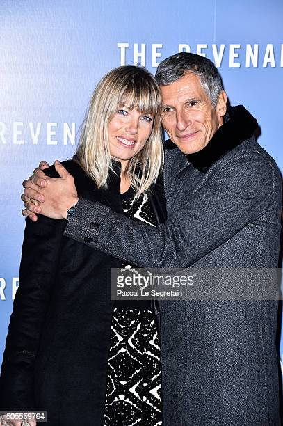 Nagui and Melanie Page attend the 'Revenants' Premiere at Le Grand Rex on January 18 2016 in Paris France