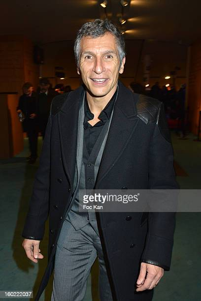 Nagui attends 'Mariage Pour Tous' at Theatre du RondPoint on January 27 2013 in Paris France