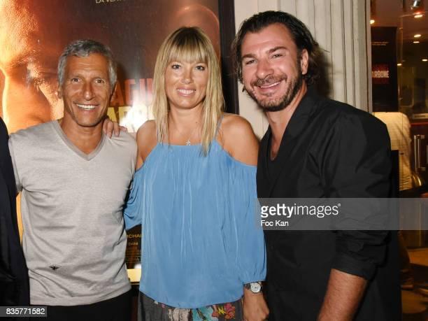 Nagui Melanie Page and Michael Youn attend the 'Carbone' SaintTropez Premiere Outside Arrivals At Cinema La Renaissance Place des LIces on August 19...