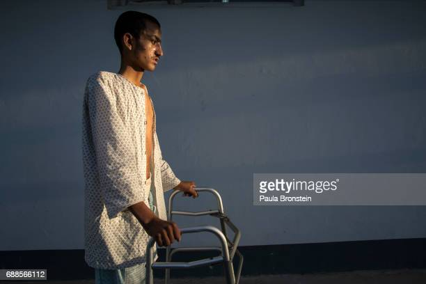 'nAhah Kahn barely is able to walk after a serious brain injury caused by an IED Atah was a sheep herder from Helmand who was at the hospital for a...