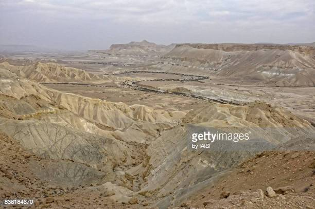 Nahal Zin, a dry wadi (riverbed) in the Negev desert