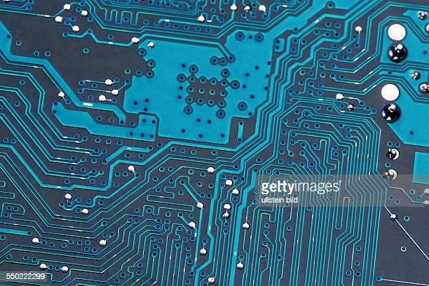 Nahaufnahme einer Platine eines Computers Symbolfoto für moderne Kommunikation