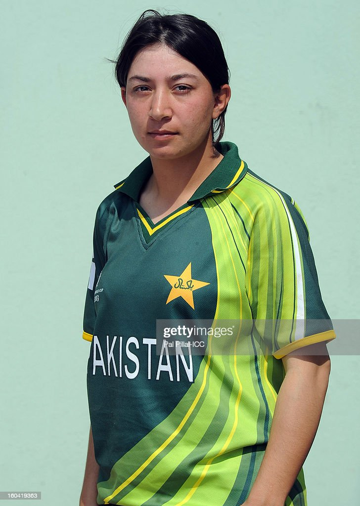 Nahida Bibi of Pakistan attends a portrait session ahead of the ICC Womens World Cup 2013 at the Barabati stadium on January 31, 2013 in Cuttack, India.