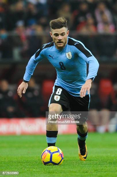 Nahitan Nandez of Uruguay during the international friendly match between Poland and Uruguay at National Stadium on November 10 2017 in Warsaw Poland