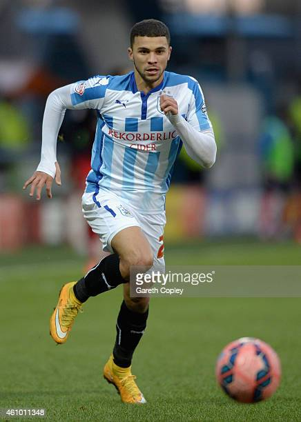 Nahki Wells of Huddersfield during the FA Cup Third Round match between Huddersfield Town and Reading at Galpharm Stadium on January 3 2015 in...