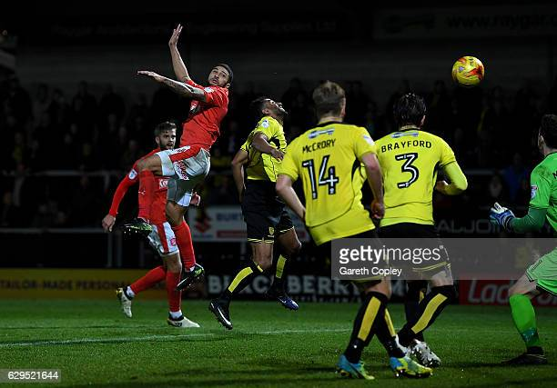 Nahki Wells of Huddersfield scores the opening goal during the Sky Bet Championship match between Burton Albion and Huddersfield Town at Pirelli...