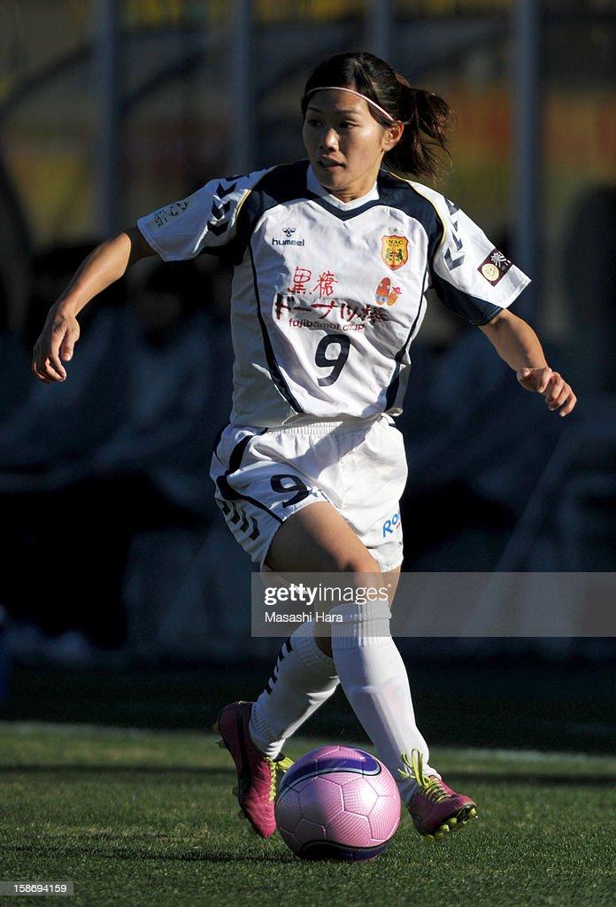 Nahomi Kawasumi #9 of INAC Kobe Leonessa in action during the 34th Empress's Cup All Japan Women's Football Tournament final match between INAC Kobe Leonessa and JEF United Chiba Ladies at Nack 5 Stadium Omiya on December 24, 2012 in Saitama, Japan.