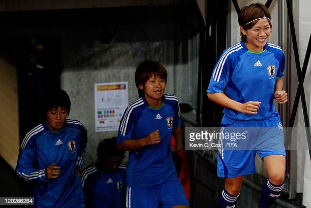 Nahomi Kawasumi of Japan during the FIFA Women's World Cup Semi Final match between Japan and Sweden at the FIFA World Cup Stadium Frankfurt on July...