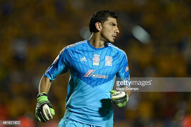 Nahuel Guzman goalkeeper of Tigres looks on during a semifinal second leg match between Tigres UANL and Internacional as part of Copa Bridgestone...