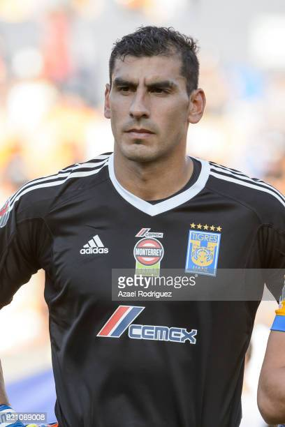 Nahuel Guzman goalkeeper of Tigres pose prior the 1st round match between Tigres UANL and Puebla as part of the Torneo Apertura 2017 Liga MX at...
