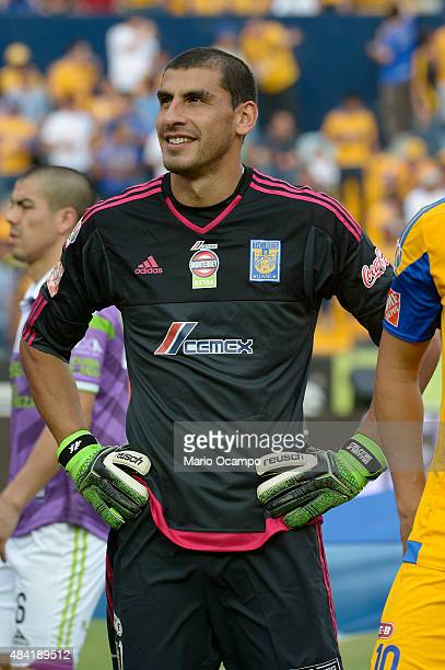 Nahuel Guzman goalkeeper of Tigres poses prior to a 5th round match between Tigres UANL and Chiapas as part of the Apertura 2015 Liga MX at...