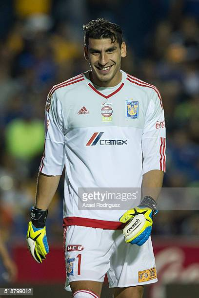 Nahuel Guzman goalkeeper of Tigres smiles during the 12th round match between Tigres UANL and Atlas as part of the Clausura 2016 Liga MX at...