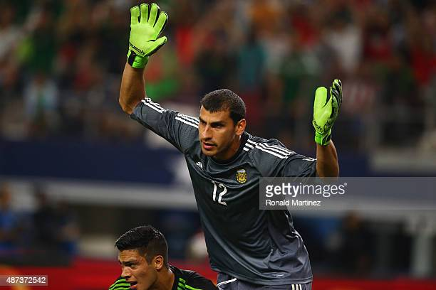 Nahuel Guzman of Argentina at ATT Stadium on September 8 2015 in Arlington Texas