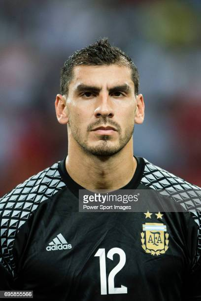 Nahuel Guzman of Argentina during the International Test match between Argentina and Singapore at National Stadium on June 13 2017 in Singapore
