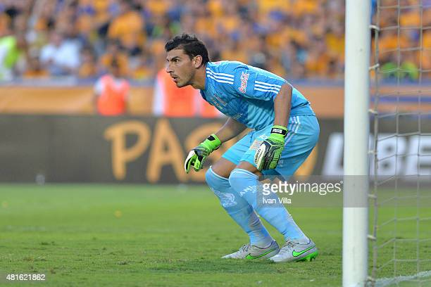 Nahuel Guzman of Tigres in action during a semifinal second leg match between Tigres UANL and Internacional as part of Copa Bridgestone Libertadores...