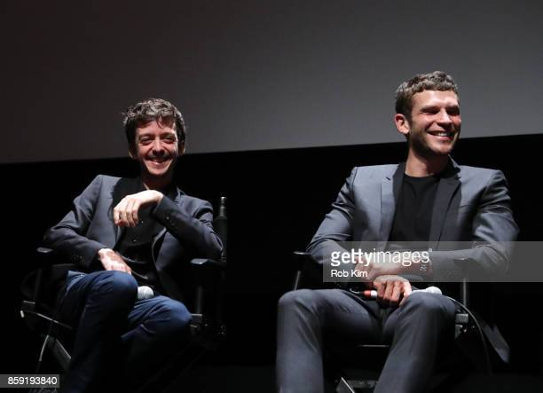 Nahuel Perez Biscayart and Arnaud Valois attend the QA for the screening of 'BPM ' during the 55th New York Film Festival at Alice Tully Hall on...