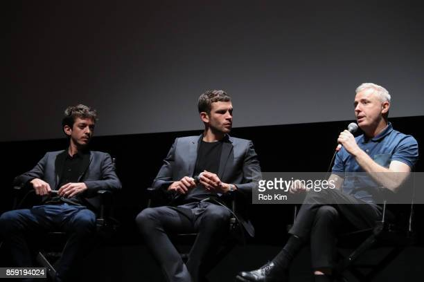 Nahuel Perez Biscayart Arnaud Valois and director Robin Campillo attend the QA for the screening of 'BPM ' during the 55th New York Film Festival at...