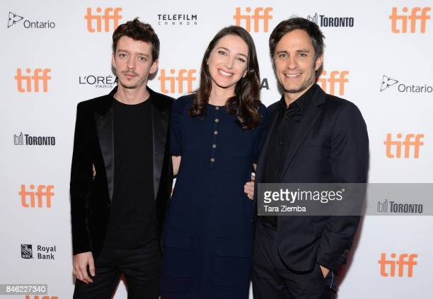 Nahuel Perez Biscayart director Joan Chemla and Gael Garcia Bernal attend the 'If You Saw His Heart' premiere during the 2017 Toronto International...
