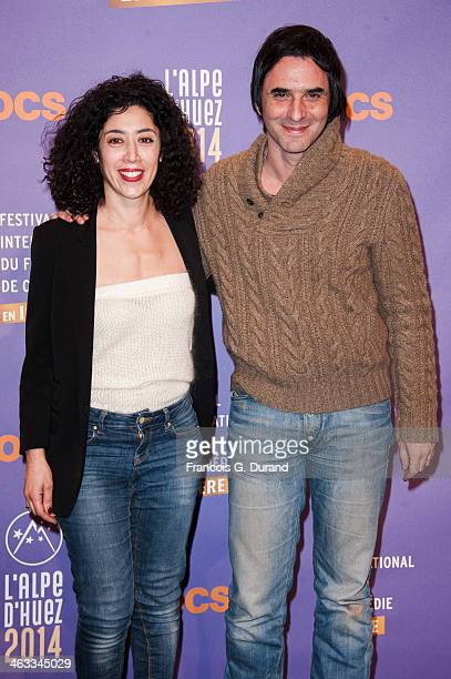 Naidra Ayadi and Samuel Benchetrit pose at a photocall for the movie 'Les Gazelles' before the screening of 'Situation Amoureuse C'est complique'...