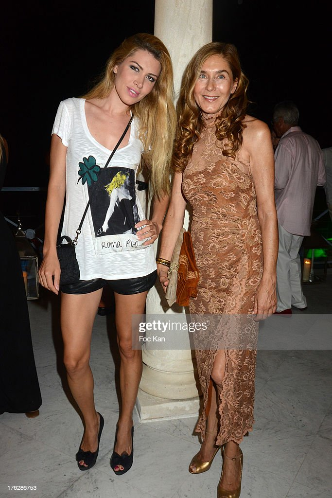 Naike Bokan Dolores and Desnica attend the Massimo Gargia's Party hosted by Richard Roizen at Villa Les Acanthes In Saint-Tropez on August 11, 2013 in Saint Tropez, France.