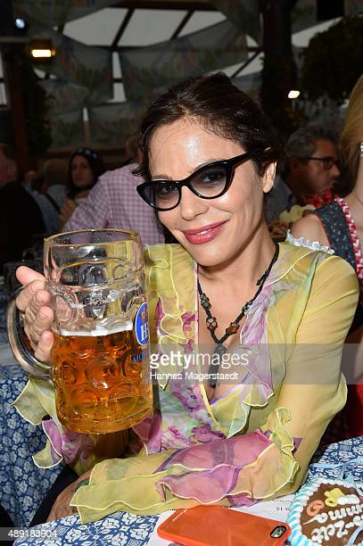 Naike Rivelli sighted at the Hofbraeu beer tent during the Oktoberfest 2015 Opening at Theresienwiese on September 19 2015 in Munich Germany