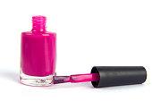Nail polish bottle  on white background