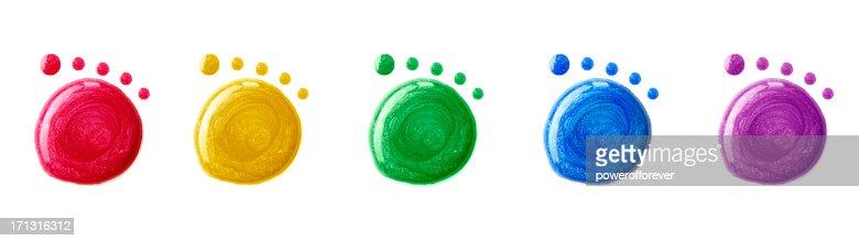 Nail Polish Footprints